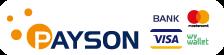 Payson - Bank, VISA, Mastercard, WyWallet