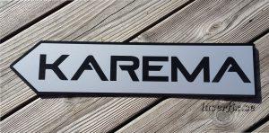 Lasergraverad skylt till KAREMA