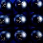 Många lasergraverade logotyper