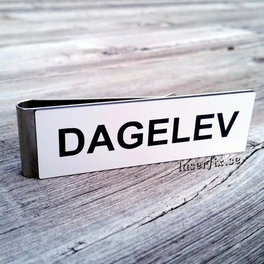 Namnskylt med militärklämma – DAGELEV