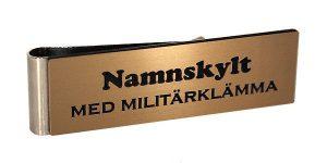 Ny färg på namnskyltar – Borstat brons med svart gravyr