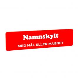 Namnskylt Rektangulär Plast Röd/vit