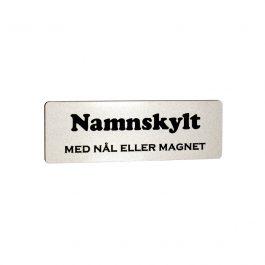 Namnskylt Rektangulär Plast Silvermatt/Svart