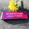 Namnskylt med militärklämma - Biomedicinsk analytiker